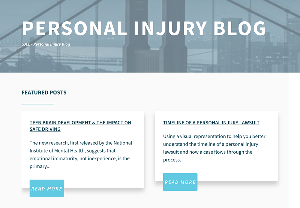 An example of a lawyer blog